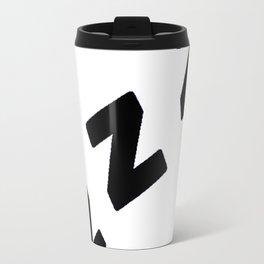Zzzs in Black Travel Mug