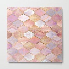 Moroccan trellis Pastel Mineral Textures Metal Print