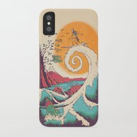 sun iPhone & iPod Cases featuring Surf Before Christmas by Victor Vercesi