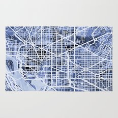 Washington DC Street Map Rug