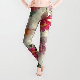 Lotus Flower Pattern Leggings