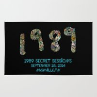 1989 Area & Throw Rugs featuring 1989 Secret Sessions Anniversary by Alexander Studios