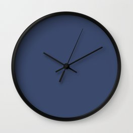 Gallant Dark Blue Solid Color Pairs To Sherwin Williams Dignified SW 6538 Wall Clock