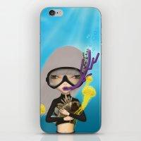 scuba iPhone & iPod Skins featuring scuba by Anne  Martwijit