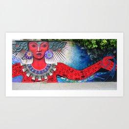 Graffiti Goddess II Art Print