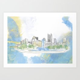 Pittsburgh Point Art Print
