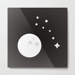 Little Dipper and Moon Metal Print
