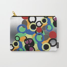 Multi colored circles on metal Carry-All Pouch