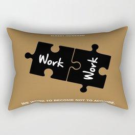 Lab No. 4 - Elbert Hubbard Work Motivational Quotes Poster Rectangular Pillow