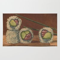 sushi Area & Throw Rugs featuring Sushi by Joe Palumbo