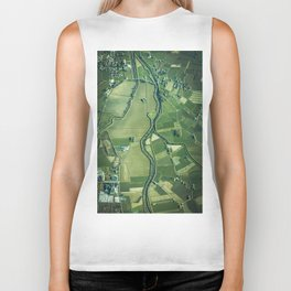 The Aerial View (Color) Biker Tank
