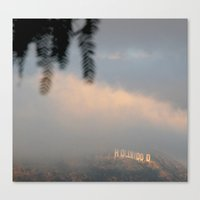 hollywood Canvas Prints featuring Hollywood by Bunny Noir