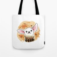 chihuahua Tote Bags featuring Chihuahua by Renee Kurilla