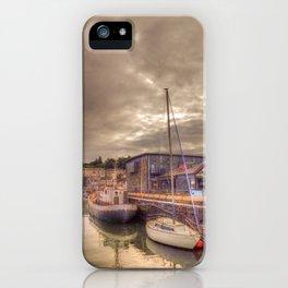 Porthmadog Harbour at Dusk iPhone Case