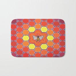 Bee Sacred Geometry Bath Mat
