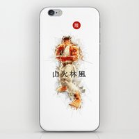 street fighter iPhone & iPod Skins featuring Street Fighter II - Ryu by Carlo Spaziani