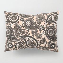 Apricot Pink Paisley Pattern Pillow Sham