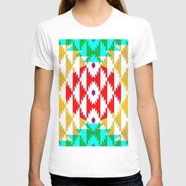 050 - traditional pattern interpretation with golden foil T-shirt