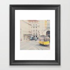 city trams ...  Framed Art Print