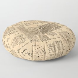 George Washington's Letters // Dark Paper Floor Pillow
