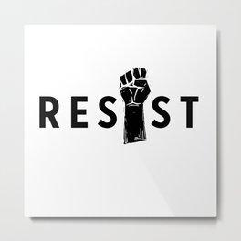 Resist Fist Metal Print