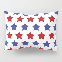 Red and Blue Stars Pillow Sham