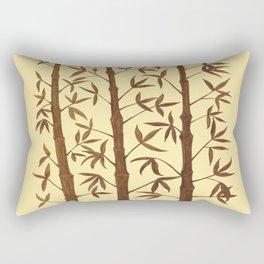 Gold Bamboo Trees Rectangular Pillow