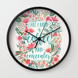 Coffee & Concealer – Juicy Palette Wall Clock