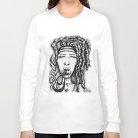 hippy Long Sleeve T-shirts featuring Trippy Hippy by CROME