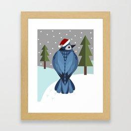 Winter Bluejay Framed Art Print
