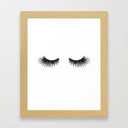 Closed Eyelashes Gerahmter Kunstdruck