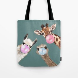 Bubble Gum Gang Dark Green Tote Bag