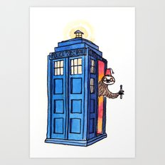 Dr Sloth  Art Print