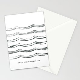 And the waves will wash it away Stationery Cards