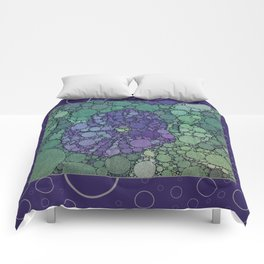 Percolated Purple Potato Flower Reboot  Comforters