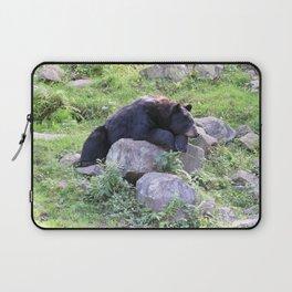 Contemplative Black Bear Laptop Sleeve