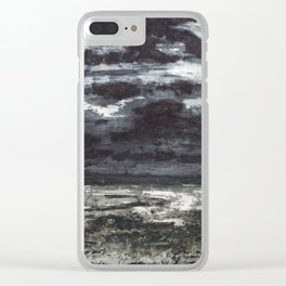 The dark field Clear iPhone Case