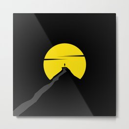the moon the mountain Metal Print