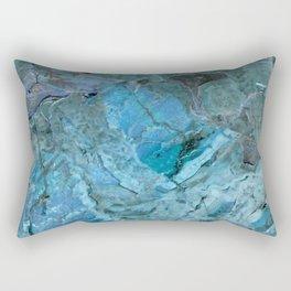 Oceania Teal & Blue Marble Rectangular Pillow