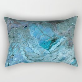 Oceania Teal & Blue Marble Rectangular Pillow