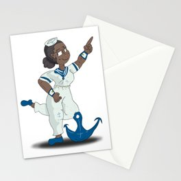 Anchor Pose Stationery Cards