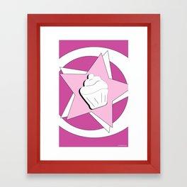 I LOVE CUPCAKES. Framed Art Print