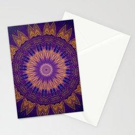 Dark Purple Gold Mandala Design Stationery Cards