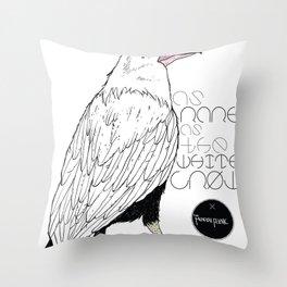 As Rare As the White Crow Throw Pillow