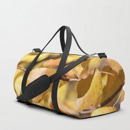Late Fall Hawthorn Leaves Duffle Bag