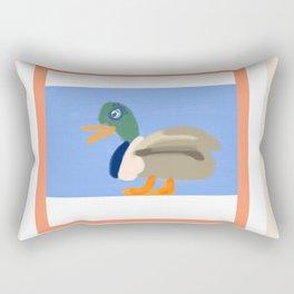 A Duck Walks the Talk Rectangular Pillow