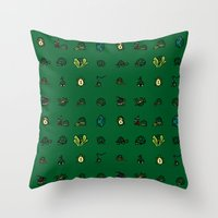 turtles Throw Pillows featuring Turtles by AboveOrdinaryArts