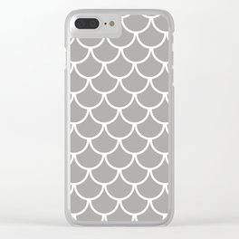Grey Fish Scales Pattern Clear iPhone Case