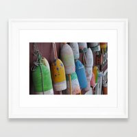 maine Framed Art Prints featuring Maine by BuffaloFencing