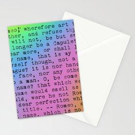 Rainbow Shakespeare (Balcony Scene) Stationery Cards